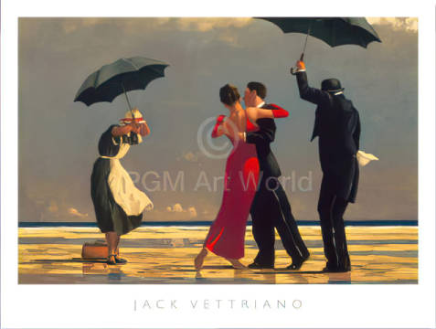 Kunstdruck Poster: Jack Vettriano, The Singing Butler