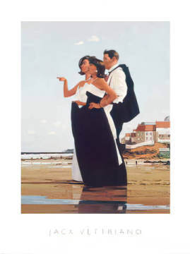 Kunstdruck Poster: Jack Vettriano, The Missing Man II