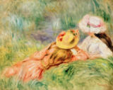 Pierre Auguste Renoir - Young Girls on the River Bank