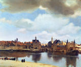 Jan Vermeer van Delft - View of Delft, c.1660-61