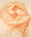 Study for 'Boreas' von John William Waterhouse