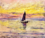 The Sailing Boat, Evening Effect, 1885 von Claude Monet