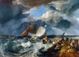 Joseph Mallord William Turner - Calais Pier: An English Packet Arriving, 1803