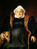 Frans Floris - Portrait of an Elderly Woman or, The Falconer's Wife, 1558