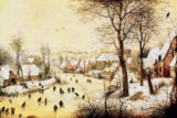 Pieter Brueghel der Ältere - Winter Landscape with Skaters and a Bird Trap, 1565