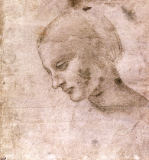 Leonardo da Vinci - Head of a Young Woman or Head of the Virgin, c.1490