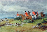 Randolph Caldecott - Fox Hunting in Surrey, 19th century