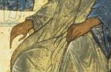 Andrei Rublev - Detail of The Holy Trinity, 1420s