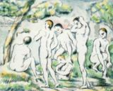 Paul Cézanne - The Bathers, small plate  1897