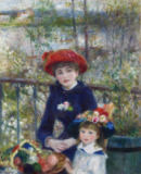 Pierre Auguste Renoir - Two Sisters, or On The Terrace, 1881