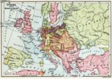 English School - Map of Europe after the Peace of Tilsit in 1807, from 'A Short History of the English People' by J. R. Green, published 1893