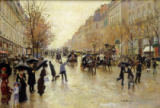 Boulevard Poissoniere in the Rain, c.1885 von Jean Beraud