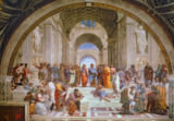 School of Athens, from the Stanza della Segnatura, 1510-11 von Raphael