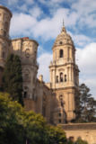 Anonymous - Malaga, Malaga Province, Costa del Sol, Spain. The cathedral, known as La Manguita, the One Armed Lady, because one of its steep