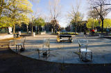 First Light (F1 Online) - Chair sculptures, Lafontaine Park, Montreal, Quebec