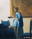 Jan Vermeer van Delft - Briefleserin in Blau