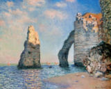 Claude Monet - The needle and the rock face of Aval