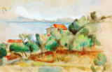 La baie de L'Estaque von Paul Cézanne