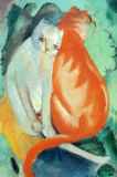 Cats, red and white of Franz Marc