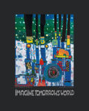 Friedensreich Hundertwasser - Imagine Tomorrows World - nach 944 blue blues