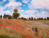 Claude Monet - Poppy field near Argenteuil (red variant)