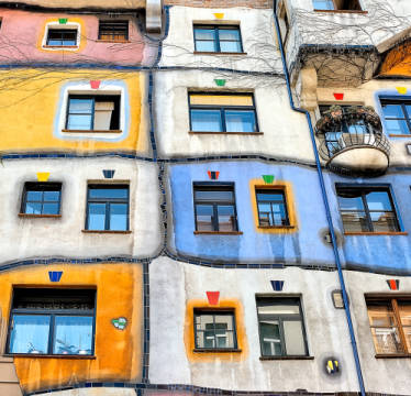 Foto-Kunstdruck: Yair Tzur, Windows of Hundertwasser