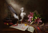 Andrey Morozov - Still life with lily and bust