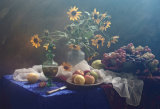 UstinaGreen - Still Life in yellow-blue tones